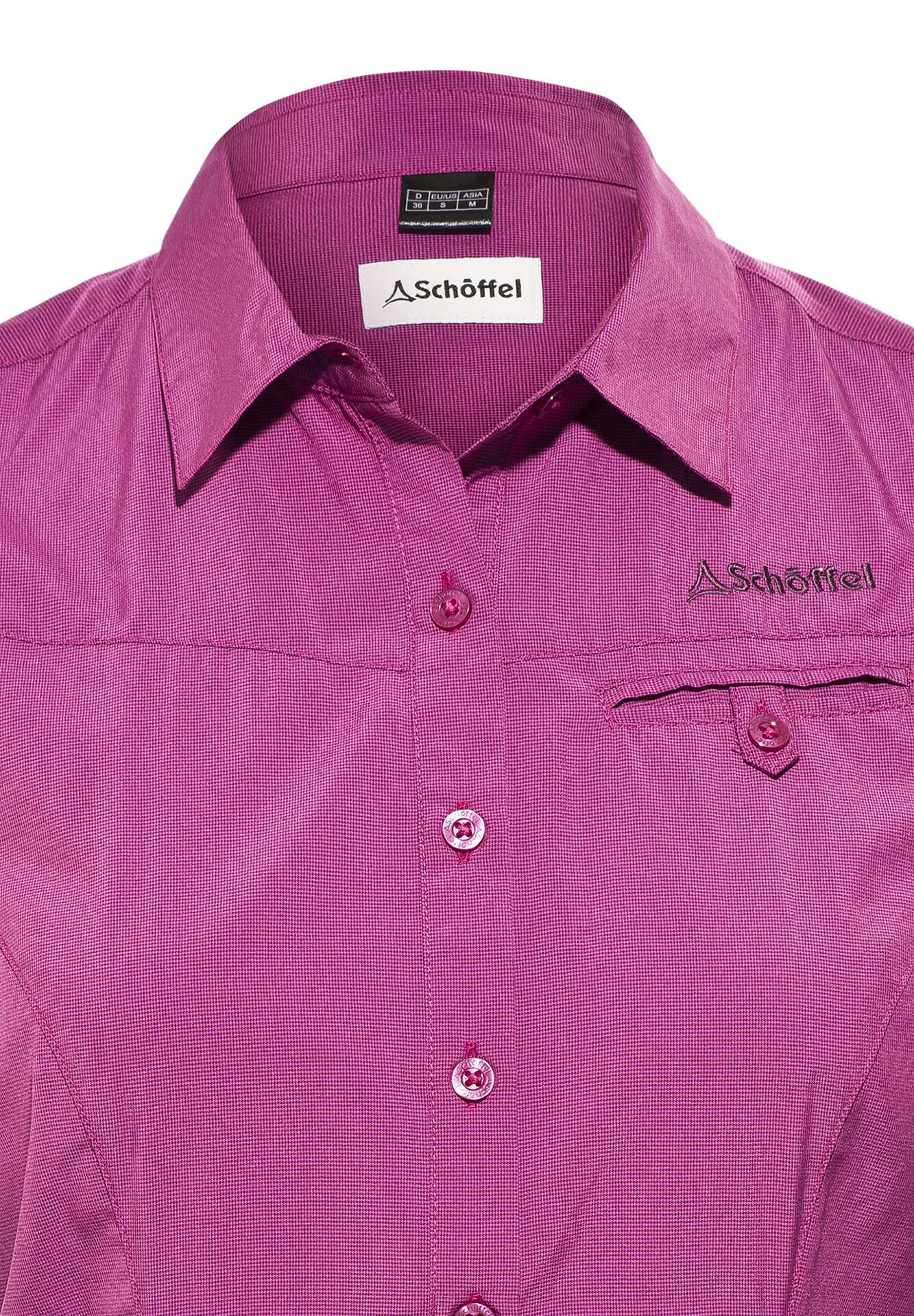 Schöffel Romana UV Kortærmet T shirt Damer, festival fuchsia